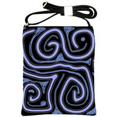 Blue abstract design Shoulder Sling Bags