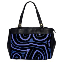 Blue abstract design Office Handbags