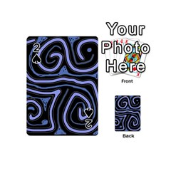 Blue abstract design Playing Cards 54 (Mini)