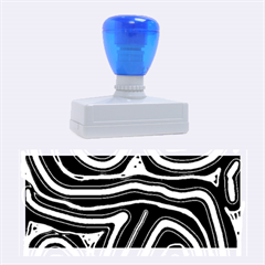 Blue Abstract Design Rubber Stamps (large)