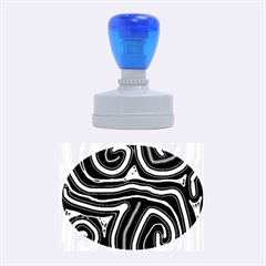 Blue abstract design Rubber Oval Stamps
