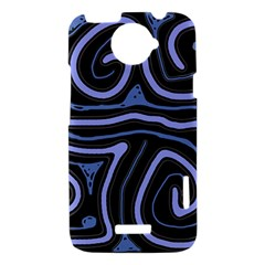 Blue abstract design HTC One X Hardshell Case