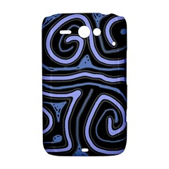 Blue abstract design HTC ChaCha / HTC Status Hardshell Case