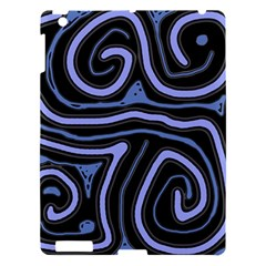 Blue abstract design Apple iPad 3/4 Hardshell Case