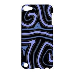 Blue abstract design Apple iPod Touch 5 Hardshell Case