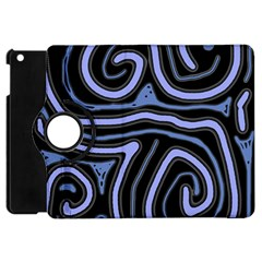 Blue abstract design Apple iPad Mini Flip 360 Case