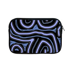Blue abstract design Apple iPad Mini Zipper Cases
