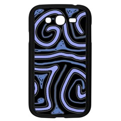 Blue abstract design Samsung Galaxy Grand DUOS I9082 Case (Black)