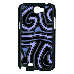 Blue abstract design Samsung Galaxy Note 2 Case (Black)