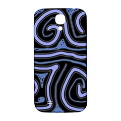 Blue abstract design Samsung Galaxy S4 I9500/I9505  Hardshell Back Case