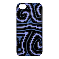 Blue abstract design Apple iPhone 5C Hardshell Case