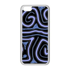 Blue abstract design Apple iPhone 5C Seamless Case (White)