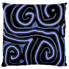 Blue abstract design Standard Flano Cushion Case (One Side)