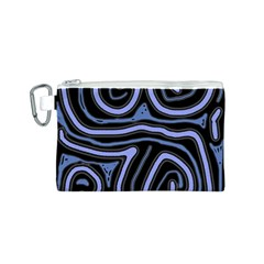 Blue abstract design Canvas Cosmetic Bag (S)