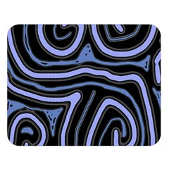 Blue abstract design Double Sided Flano Blanket (Large)