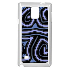 Blue abstract design Samsung Galaxy Note 4 Case (White)
