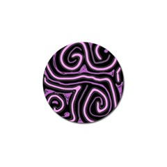 Purple neon lines Golf Ball Marker (4 pack)