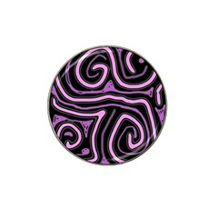 Purple neon lines Hat Clip Ball Marker (4 pack)