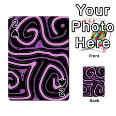 Purple neon lines Playing Cards 54 Designs