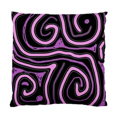 Purple neon lines Standard Cushion Case (Two Sides)