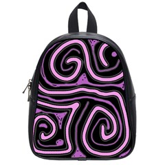 Purple neon lines School Bags (Small)