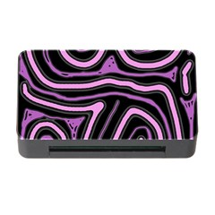 Purple neon lines Memory Card Reader with CF