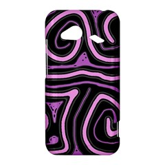Purple neon lines HTC Droid Incredible 4G LTE Hardshell Case