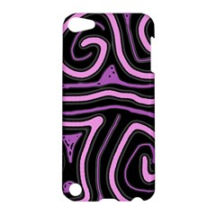 Purple neon lines Apple iPod Touch 5 Hardshell Case