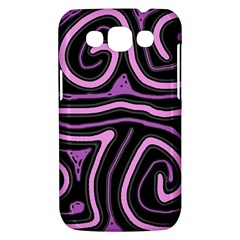 Purple neon lines Samsung Galaxy Win I8550 Hardshell Case