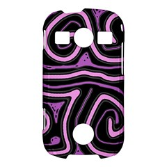 Purple neon lines Samsung Galaxy S7710 Xcover 2 Hardshell Case