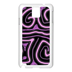 Purple neon lines Samsung Galaxy Note 3 N9005 Case (White)