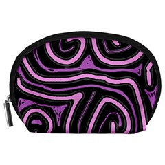 Purple neon lines Accessory Pouches (Large)