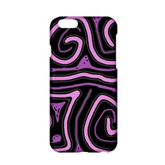 Purple neon lines Apple iPhone 6/6S Hardshell Case