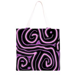 Purple neon lines Grocery Light Tote Bag