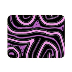 Purple neon lines Double Sided Flano Blanket (Mini)