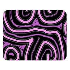 Purple neon lines Double Sided Flano Blanket (Large)