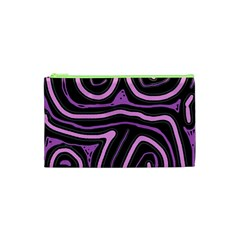 Purple neon lines Cosmetic Bag (XS)