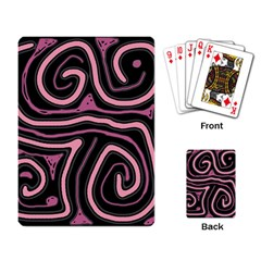 Decorative lines Playing Card