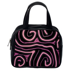Decorative lines Classic Handbags (One Side)