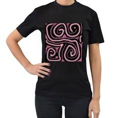 Decorative lines Women s T-Shirt (Black)