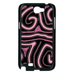 Decorative lines Samsung Galaxy Note 2 Case (Black)