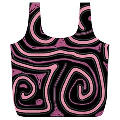 Decorative lines Full Print Recycle Bags (L)