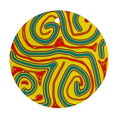 Colorful decorative lines Ornament (Round)