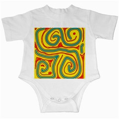 Colorful decorative lines Infant Creepers