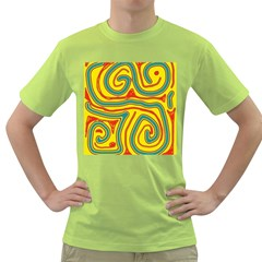 Colorful decorative lines Green T-Shirt
