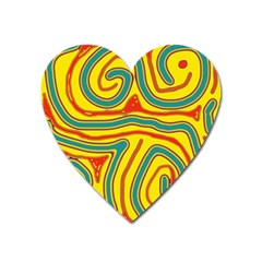 Colorful decorative lines Heart Magnet