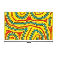 Colorful decorative lines Business Card Holders