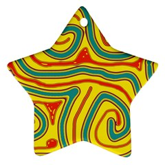 Colorful decorative lines Star Ornament (Two Sides)