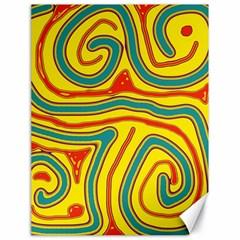 Colorful decorative lines Canvas 18  x 24
