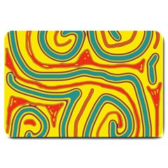 Colorful decorative lines Large Doormat